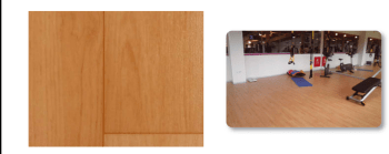 Suelo vinílico para gimnasio imitación madera