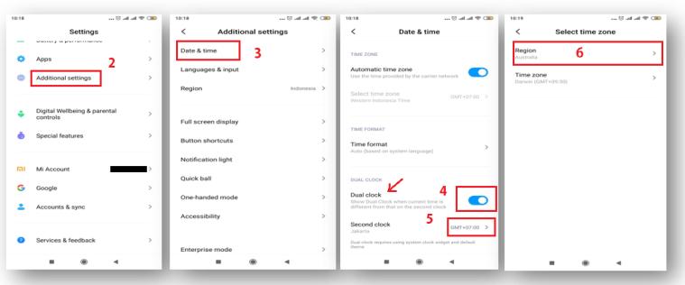 Cara Menampilkan Jam Ganda Dengan Zona Waktu Berbeda di Android