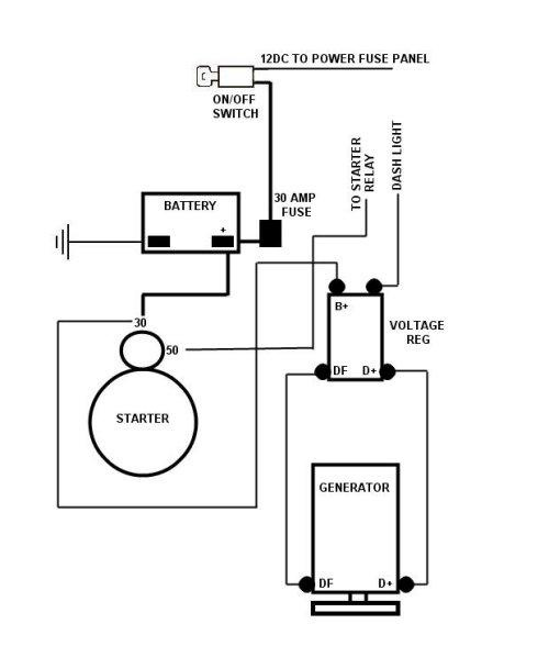 dune buggy wiring diagram alternator  1997 lincoln