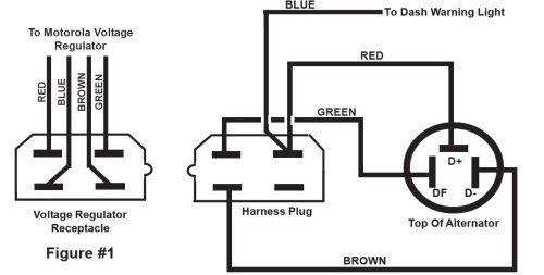 volvo motorola alternator external regulator wiring diagram