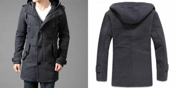 Мужское пальто фото с капюшоном – длинное пальто с меховым ...