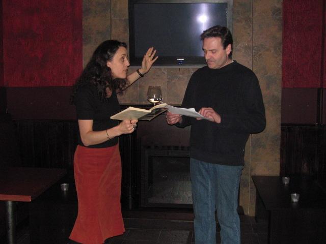Trilby & Dan reading Talley's Folly