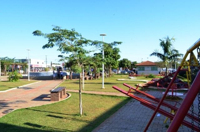 Praça central em Engenheiro Beltrão