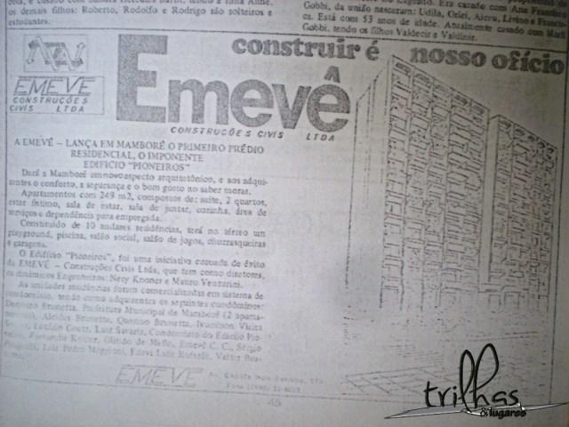 Lançamento da construção do primeiro prédio de Mamborê (Edíficio Pioneiros)