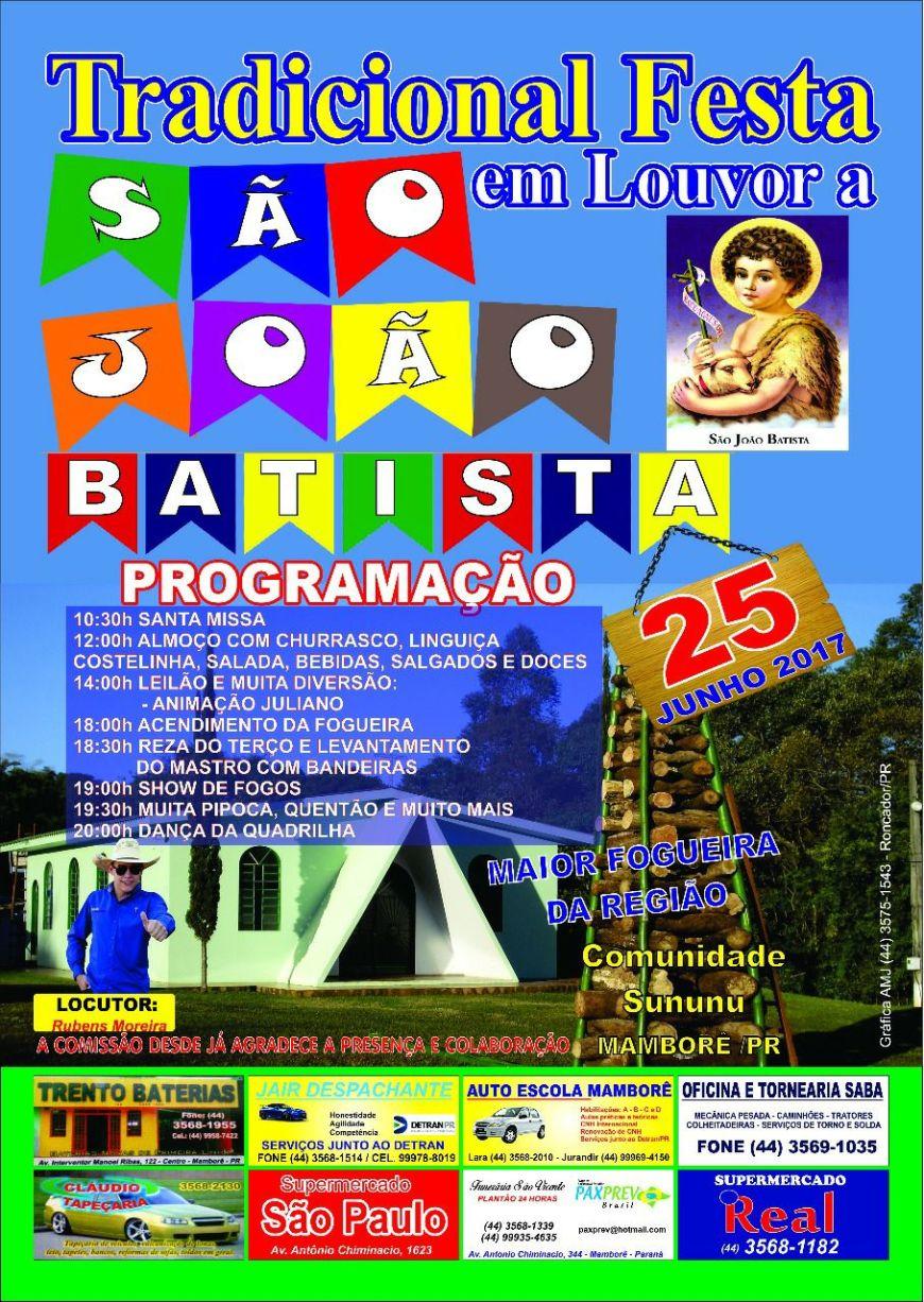 festa em louvor a sao Joao Batistafesta em louvor a sao Joao Batista