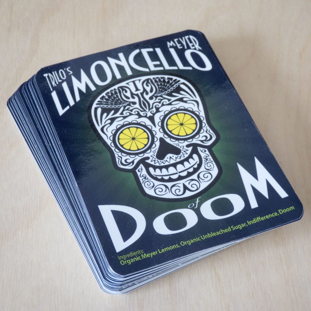Limoncello Of Doom Label