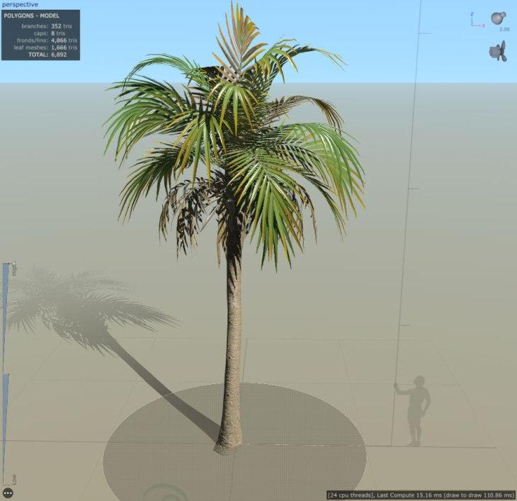 Speedtree 8 Sample Palm Tree