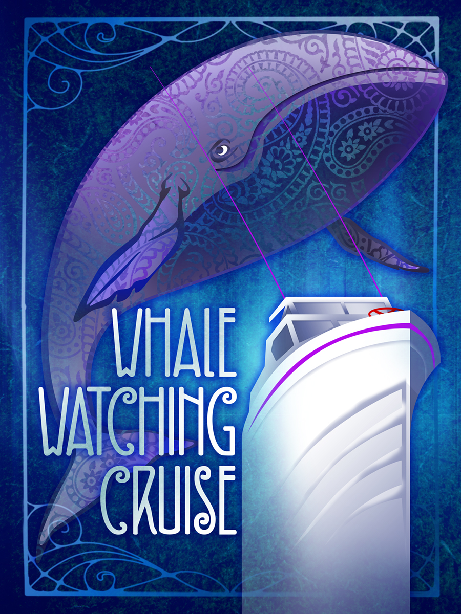 Whale Watching Cruise Poster