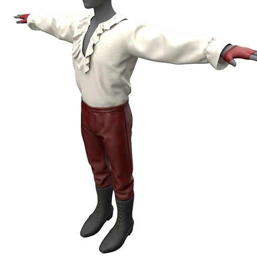 BlakOpal Antilles Pirate Outfit