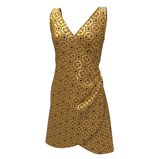 Mirabelle Wrap Dress in Gold