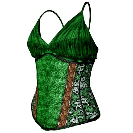 Bettie Corset Top in green