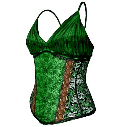 Bettie Corset Top in green