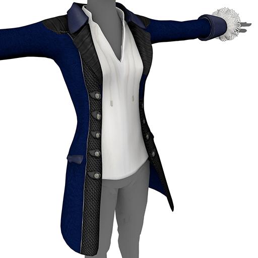 Blue Ladies' Coat