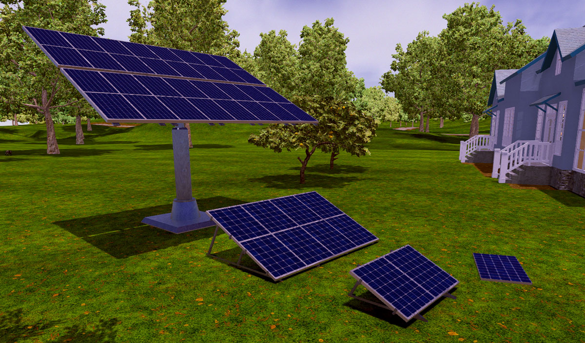 Solar Panels and Arrays  Rooftop solar installation As an early foray into furniture and decor, I immediately thought of making solar panels. I wanted to make something that could be placed on a rooftop or in an adjacent yard. These solar panels and arrays fit the bill, since I could imagine using them in…
