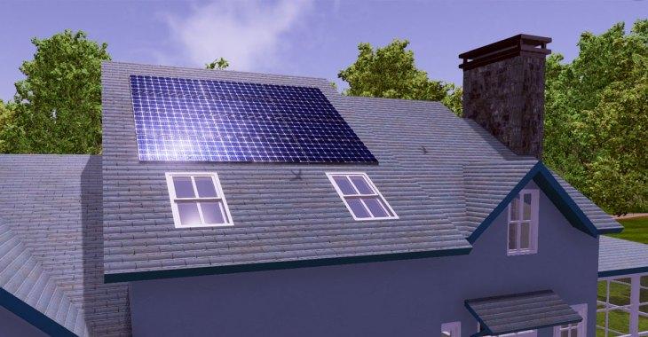 Rooftop solar installation in SineSpace