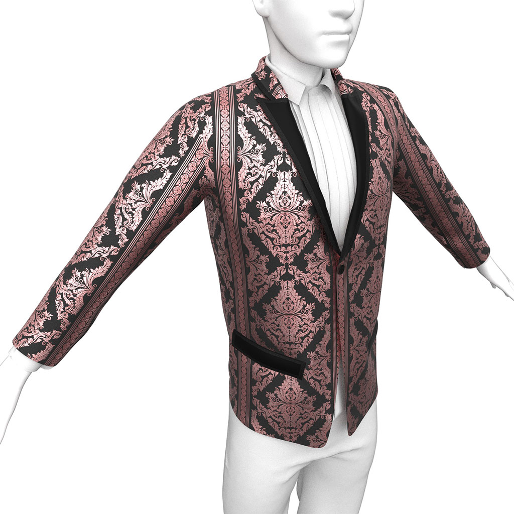 Pearson Brocade Jacket in Rose Gold