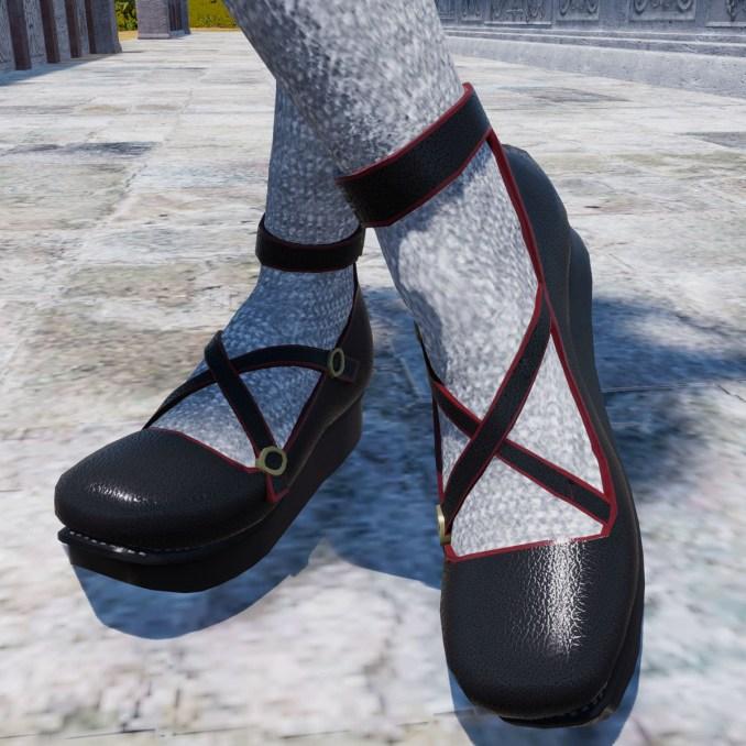 Rascal Platform Shoes in Black