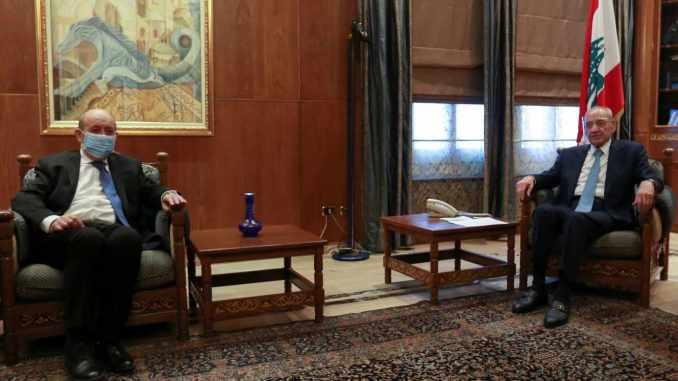 Propos liminaires de Jean-Yves Le Drian lors de sa rencontre avec la presse à Beyrouth