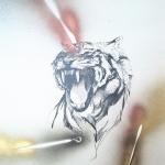 Fauci Strumenti grafite e smalto su carta cm 70x50,5
