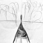 Storyboard per il varo VIII, grafite su carta, 42 x 59,4 cm, 2017