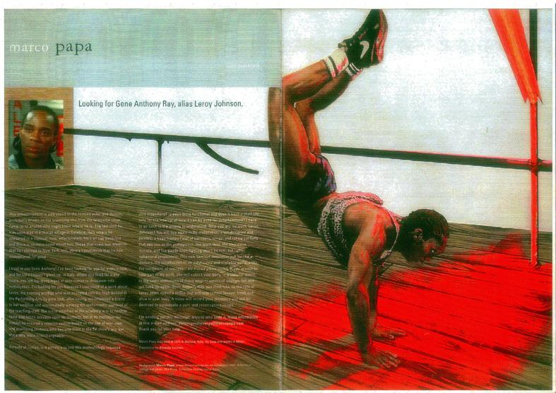 Annuncio su Tema Celeste Contemporary Art n 95 - 2002