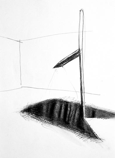 Bagliore nell'oscurità - 1999 inchiostro su carta cm 24x16
