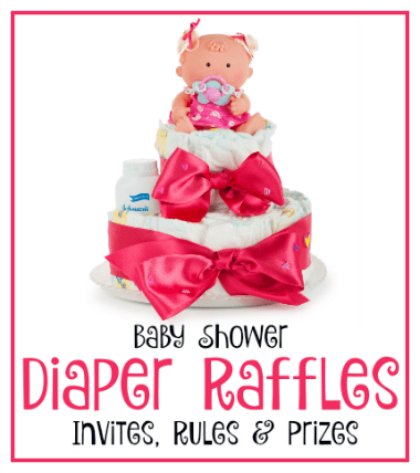 invites prizes rules for a diaper raffle