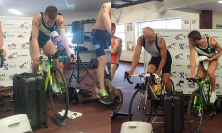 """Lionel Sanders se luce en un """"triatlón indoor"""" en Canadá."""