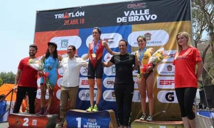Espectacular competencia en el Triatlón Valle de Bravo 2018.