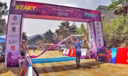 Un triatleta batió el récord de la Muralla China.