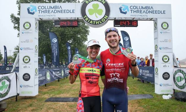 Ben Kanute y Angela Naeth ganan el Triatlón de Boston
