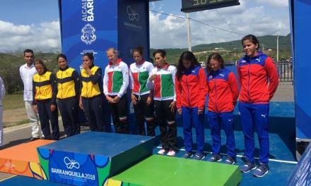 México gana oro en triatlón femenil por equipos en Barranquilla.