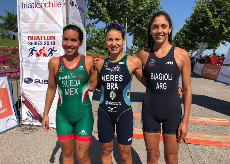 Lizeth Rueda termina 2o en Copa Americana de Triatlón Sprint ITU en Santiago de Chile.