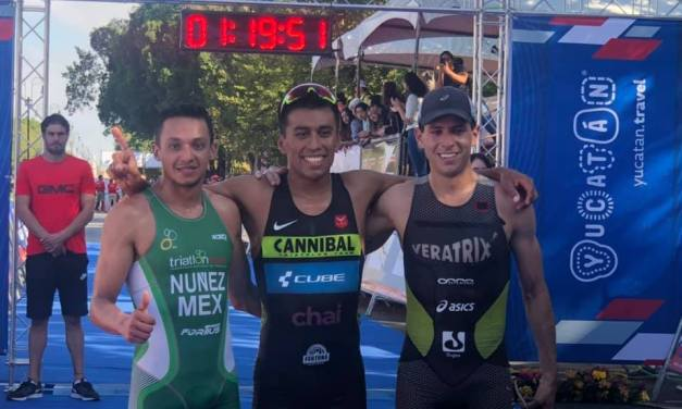Repite Ramírez oro en Triatlón Mérida 2019; Pérez gana la varonil