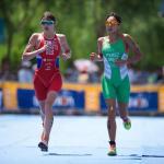 La olímpica Cecilia Pérez se prepara para competir mañana en el Triatlón La Paz