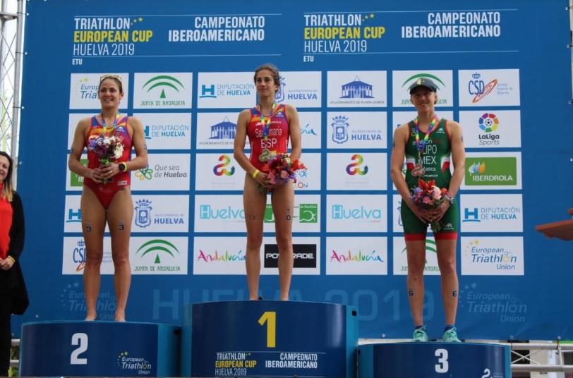 Sube Flipo al podio en el Campeonato Iberoamericano de Triatlón Huelva 2019