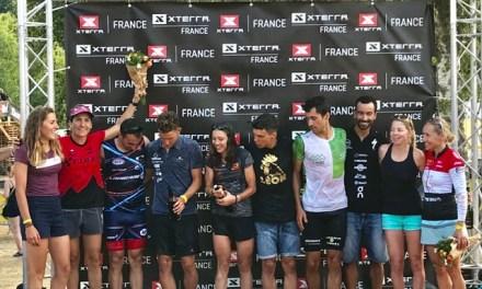Araña Fabiola Corona podio en el XTERRA Francia