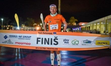Completa ultra triatleta estonio 40 IRONMAN en 40 días