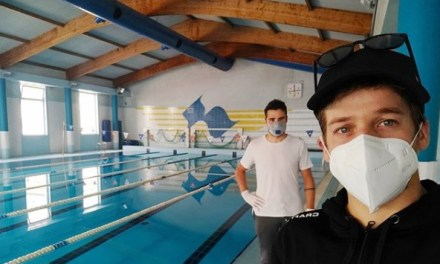 Regresan Gómez Noya y Dapena a entrenar la natación