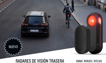 Rueda tranquilo con los radares Varia ™ RVR315 y RTL515 de Garmin