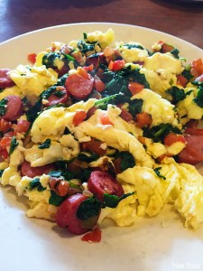 Muscle Bound Scramble dish at The Griddle West Hollywood Los Angeles California
