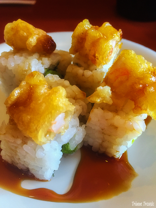 Shrimp Tempura California roll from Sushi Koo on Third Street Los Angeles California