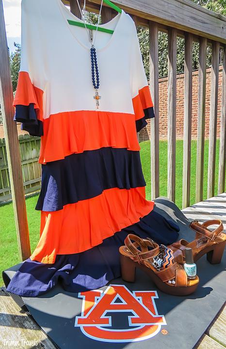 Fashion Shots Fall Auburn Tiered Ruffle Game Day Dress