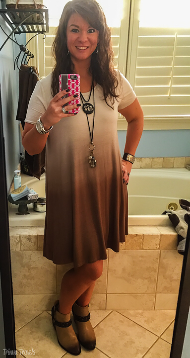 Brown Ombré Tshirt Dress