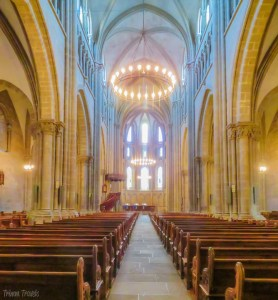 Inside of St Pierre Cathedral Geneva