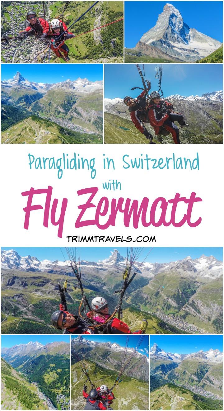 Paragliding Fly Zermatt Switzerland Title