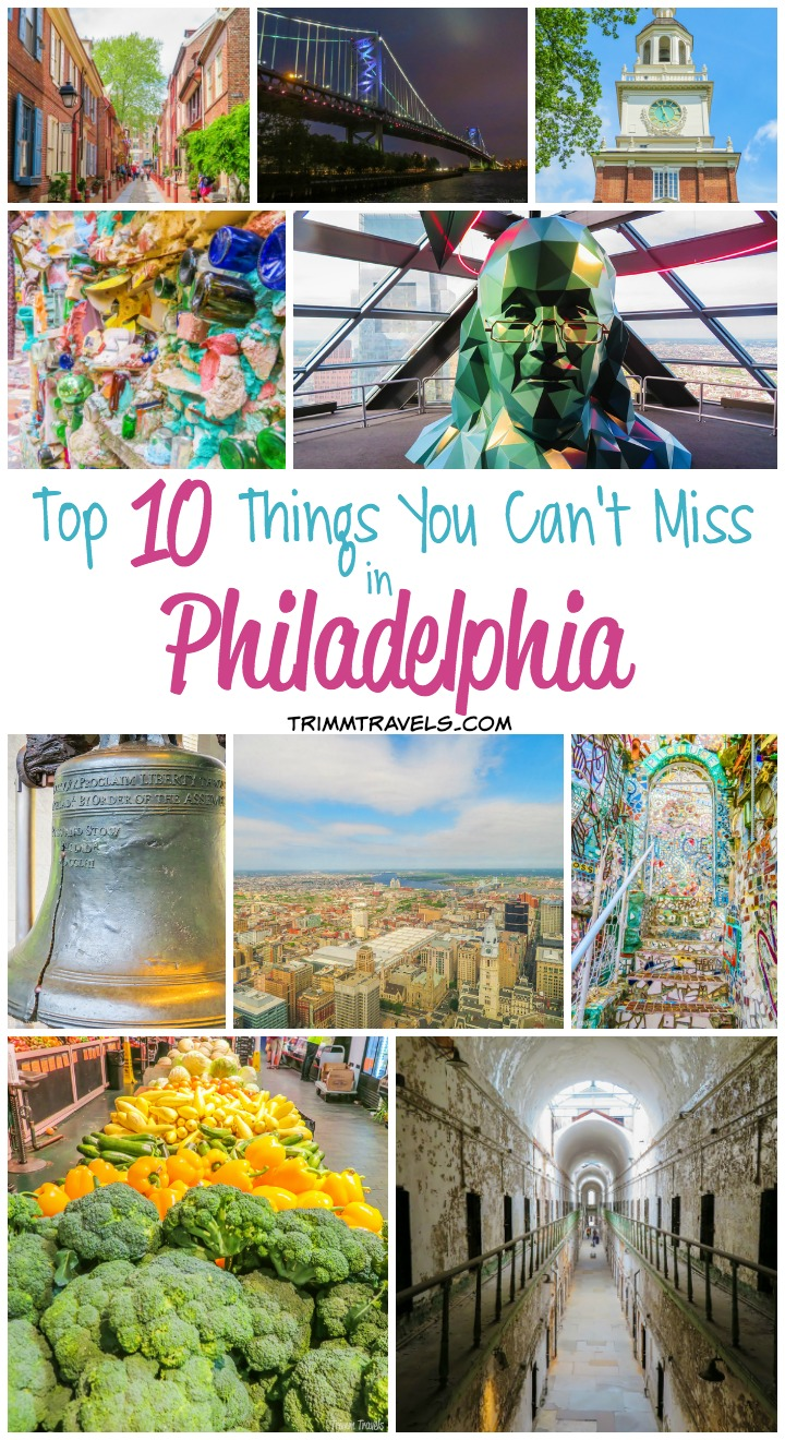 Historical, picturesque, and cultural is how I would describe the City of Brotherly Love. So, what are the top 10 things you can't miss in Philadelphia?