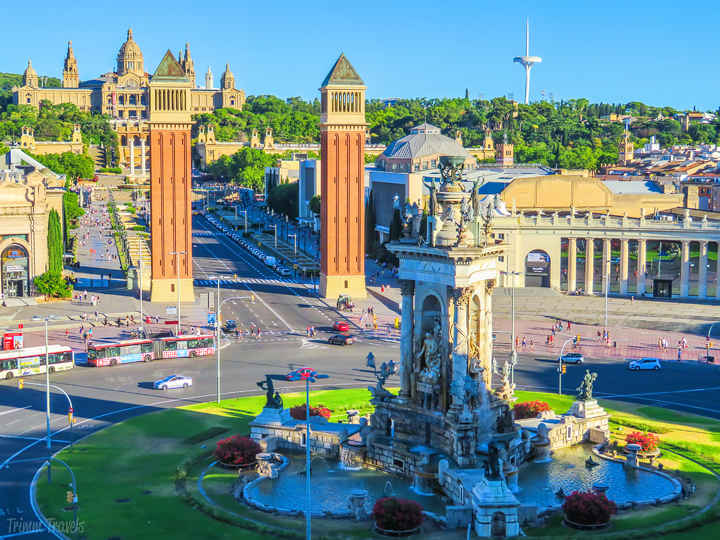 Plaça d'Espanya Plaza de España Best Places to See First Time Visitor Barcelona Spain