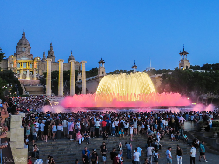 Font Màgica de Montjuïc Magic Fountain Light Show Best Places to See First Time Visitor Barcelona Spain