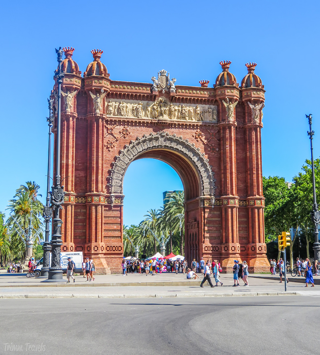 Arc de Triomf Arco de Triunfo Best Places to See First Time Visitor Barcelona Spain